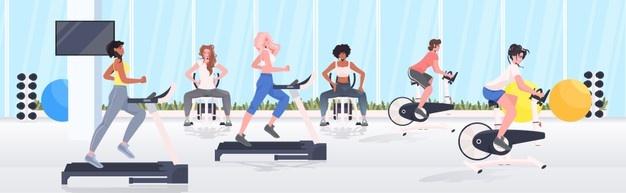 Тренажеры в фитнес-зале